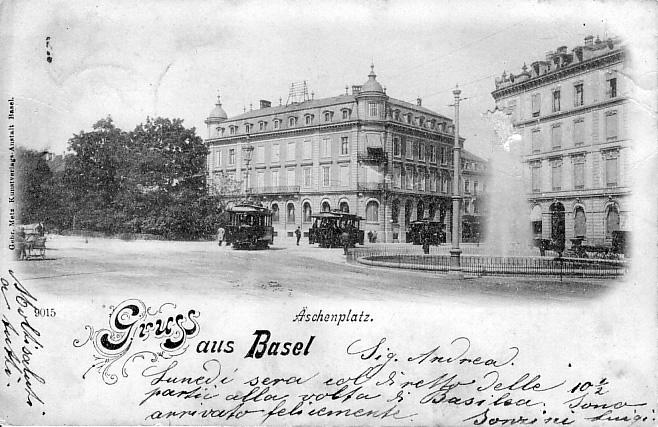 Aeschenplatz um 1898