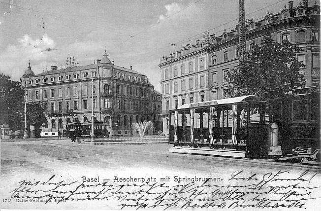 Aeschenplatz um 1901