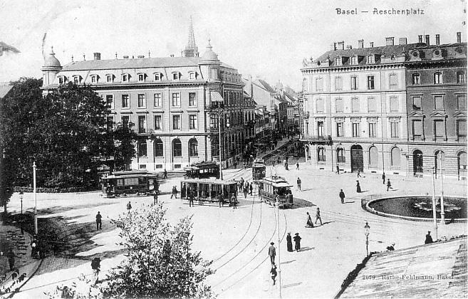 Aeschenplatz um 1904