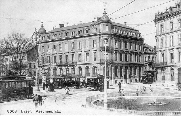 Aeschenplatz um 1907