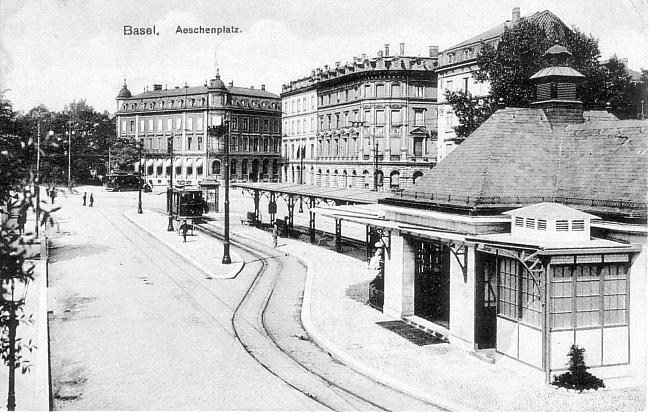 Aeschenplatz um 1908