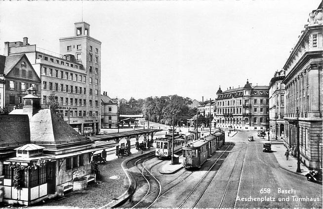 Aeschenplatz um 1940