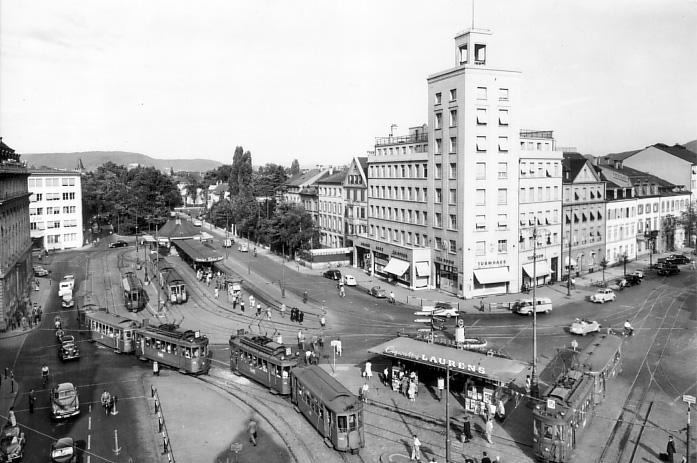 Aeschenplatz um 1960