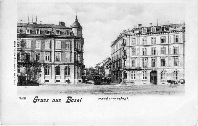 Aeschenvorstadt um 1895