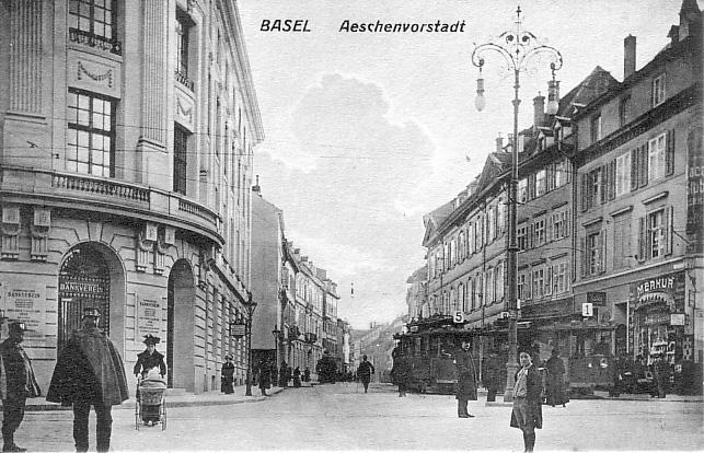 Aeschenvorstadt um 1901