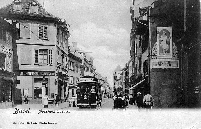 Aeschenvorstadt um 1902