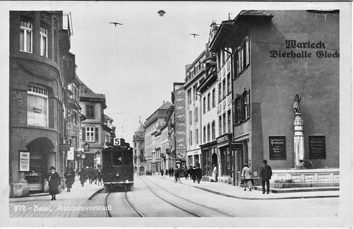 Aeschenvorstadt um 1920