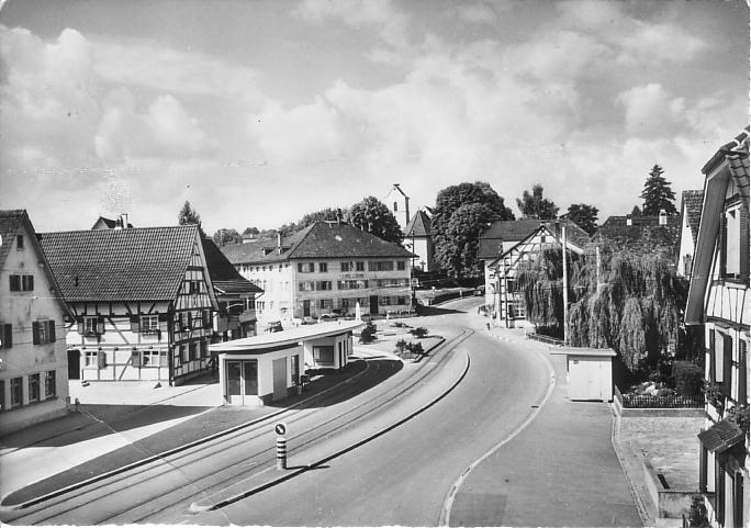 Dorfplatz um 1958