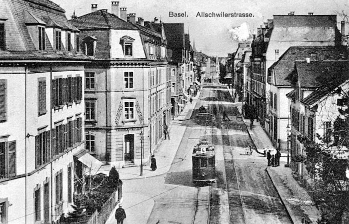 Allschwilerstrasse um 1910