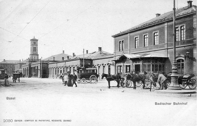 Alter Badischer Bahnhof um 1900
