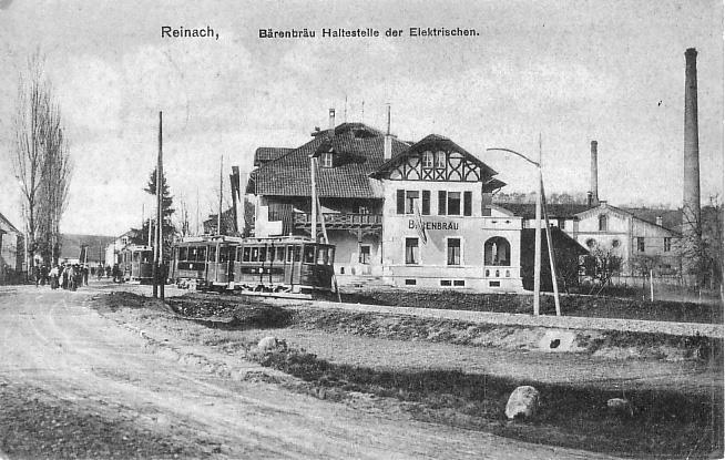Tramhaltestelle Brauerei um 1906