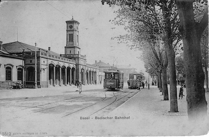 Alter Badischer Bahnhof um 1903