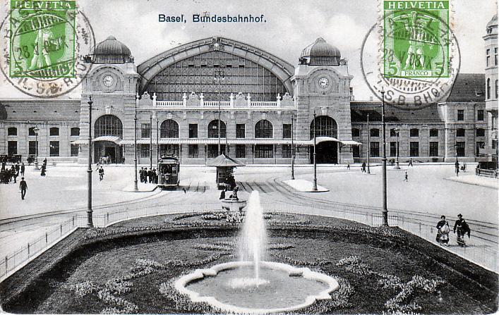 Centralbahnplatz um 1908