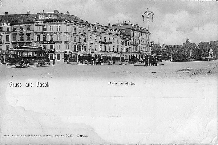 Centralbahnplatz um 1901