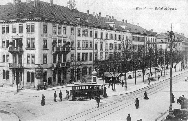 Bahnhofstrasse um 1912