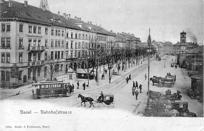 Bahnhofstrasse um 1900
