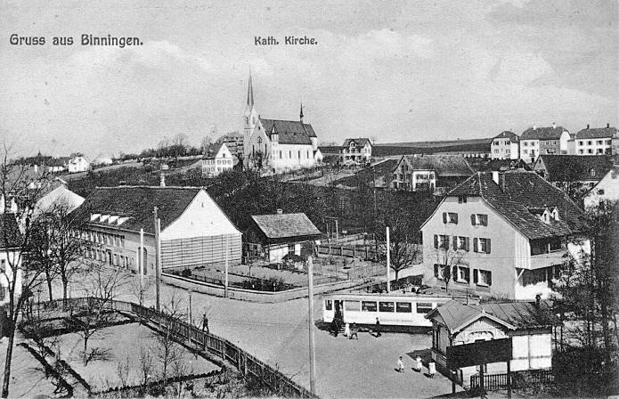 Binningen um 1908