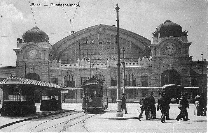 Centralbahnplatz um 1907