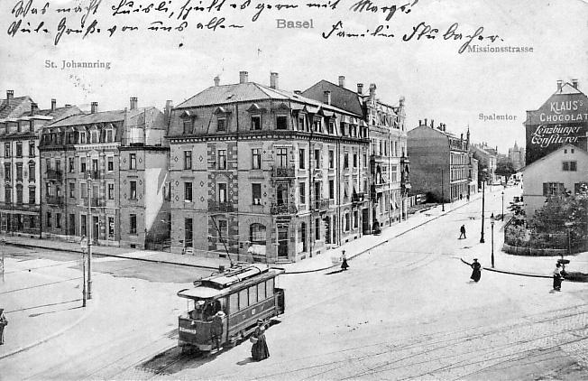 Burgfelderplatz um 1908