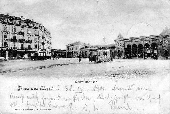 Centralbahnplatz um 1898
