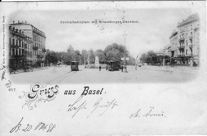 Centralbahnplatz um 1897