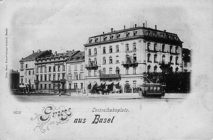 Centralbahnplatz um 1899