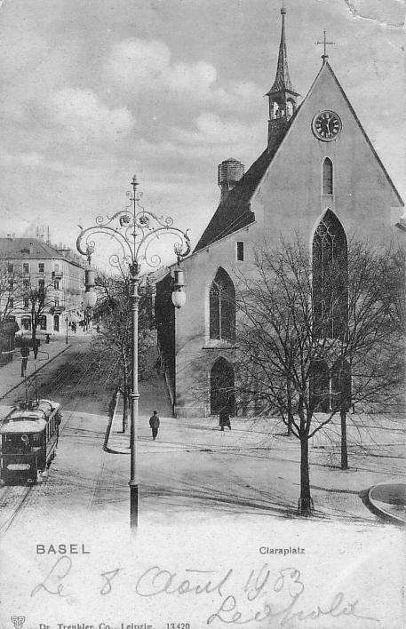 Claraplatz um 1900