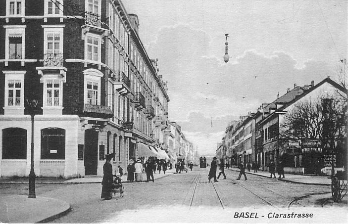 Clarastrasse um 1910