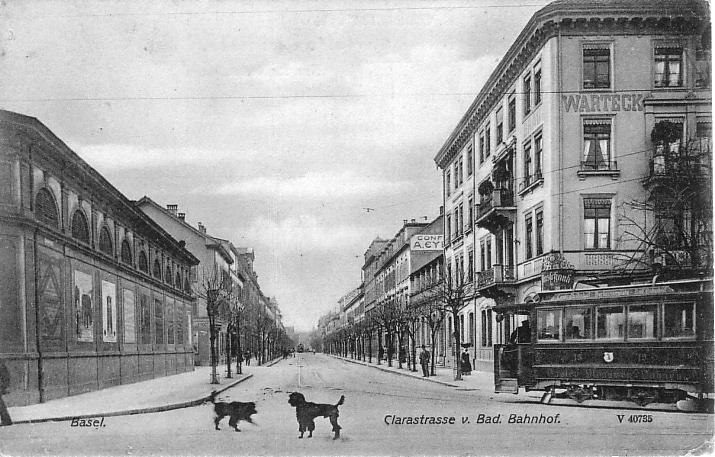 Clarastrasse um 1900