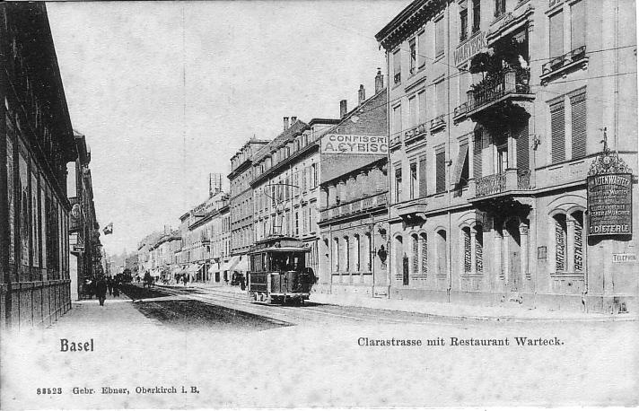 Clarastrasse um 1905