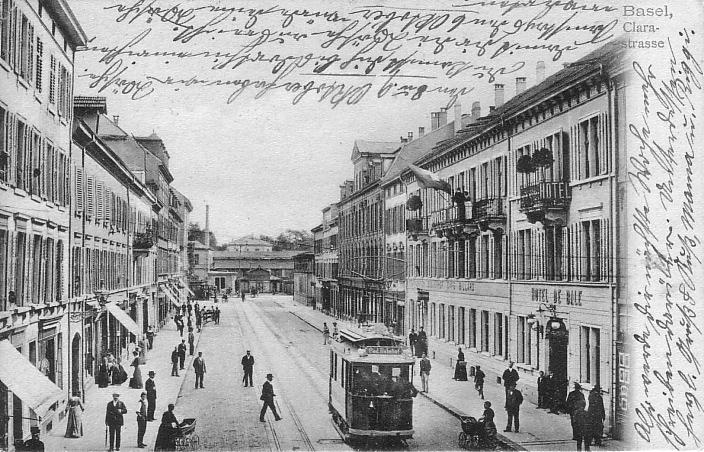 Clarastrasse um 1904