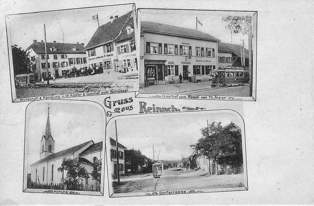Vier Ortsansichten um 1906
