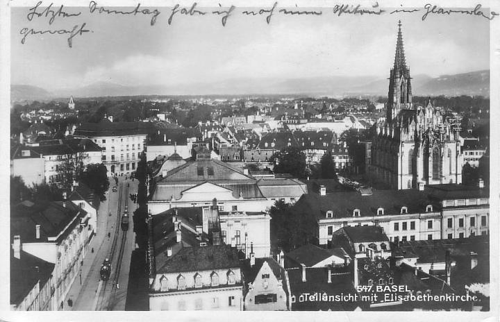 Elisabethenkirche um 1930