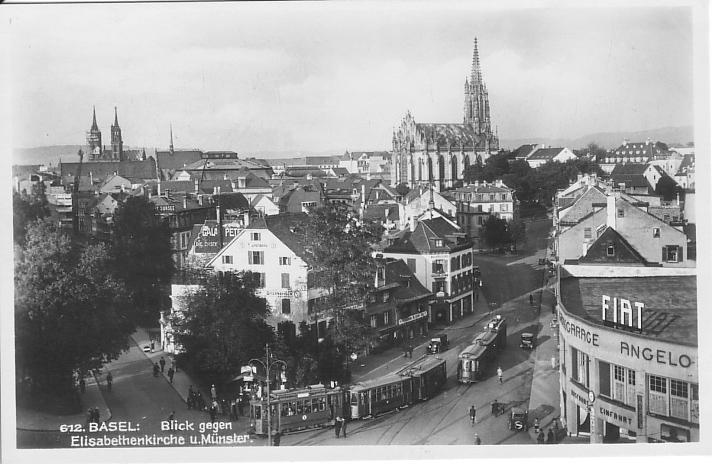 Steinentorstrasse um 1928