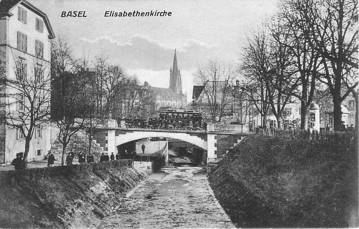 Birsigbrücke um 1905