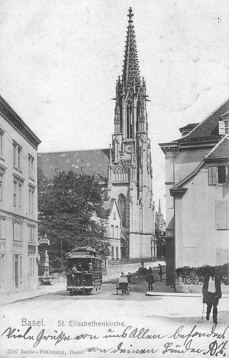 Elisabethenkirche um 1902