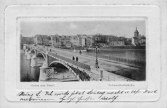 Johanniterbrücke um 1895