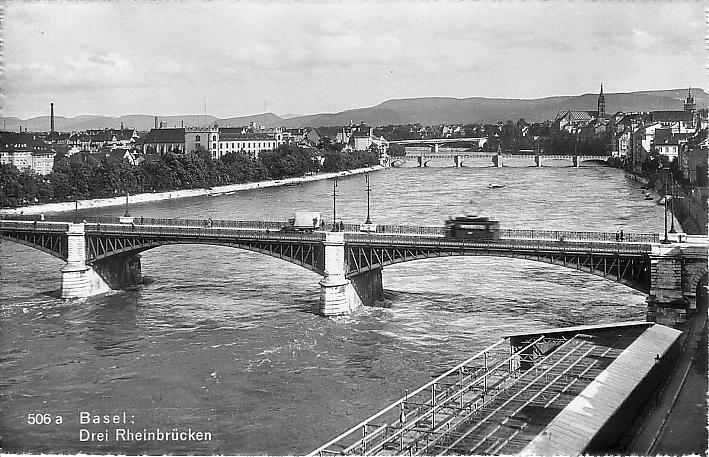 Johanniterbrücke um 1945