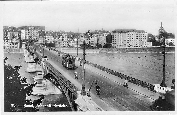 Johanniterbrücke um 1930