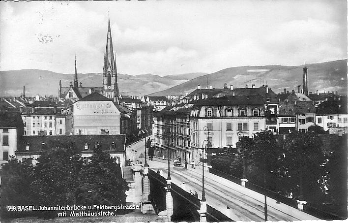 Johanniterbrücke um 1925