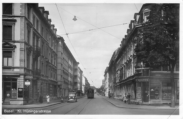 Kleinhüningerstrasse um 1930