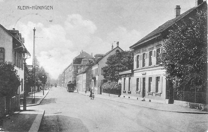Kleinhüningerstrasse um 1910