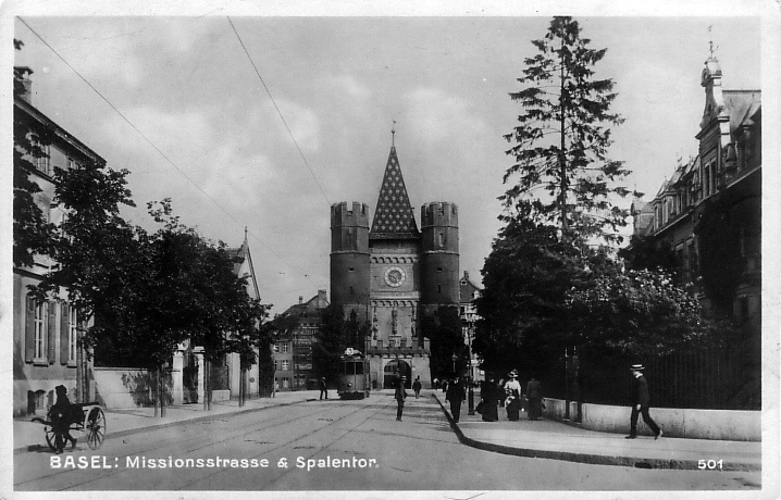 Missionsstrasse um 1920