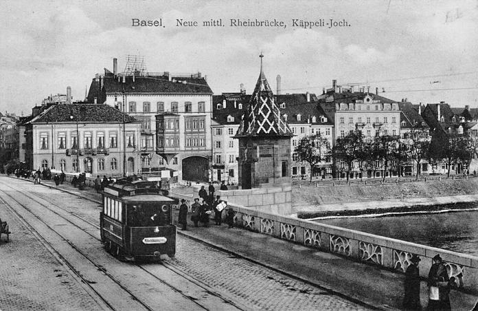 Mittlere Rheinbruecke um 1904