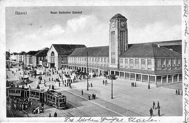 Neuer Badischer Bahnhof 1914