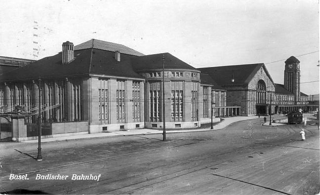 Neuer Badischer Bahnhof um 1925