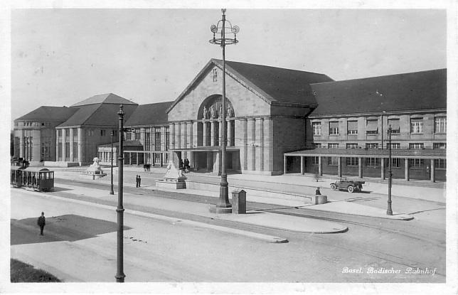 Neuer Badischer Bahnhof um 1928