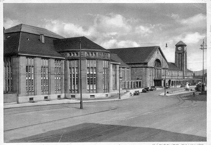 Neuer Badischer Bahnhof 1932