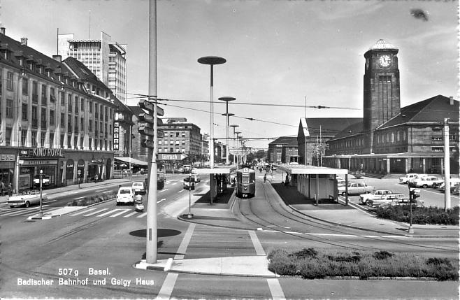 Neuer Badischer Bahnhof 1967