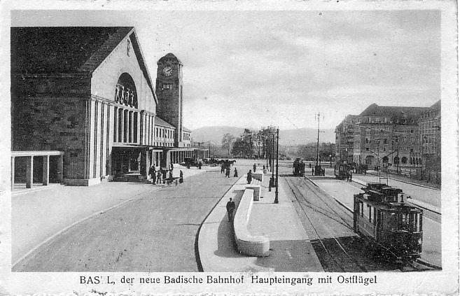 Neuer Badischer Bahnhof 1925